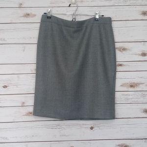 J. Crew Gray Hidden Zipper Pencil Skirt Size 12P